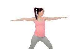 Beautiful pregnant woman doing yoga Royalty Free Stock Photo