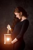 Beautiful pregnant woman enjoys new life Royalty Free Stock Photos