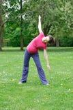 Beautiful pregnant woman exercising Stock Photo