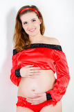 Beautiful pregnant woman expecting baby Royalty Free Stock Photo