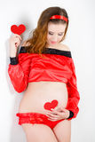 Beautiful pregnant woman expecting baby Royalty Free Stock Image