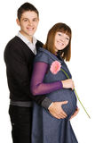 Beautiful pregnant woman with her husband Stock Image