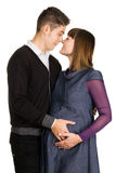 Beautiful pregnant woman with her husband Stock Photography