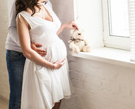 Beautiful pregnant woman with her husband Royalty Free Stock Photography
