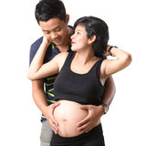 Beautiful pregnant woman and her husband Stock Photography