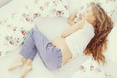 Beautiful pregnant woman Stock Images