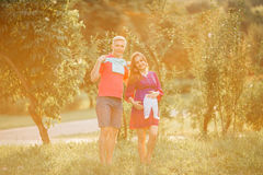 Beautiful pregnant woman and man couple in love Stock Photography