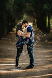 Beautiful pregnant woman and man couple in love Royalty Free Stock Images