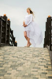 Beautiful pregnant woman outdoor Royalty Free Stock Images