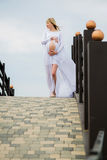 Beautiful pregnant woman outdoor Royalty Free Stock Photo