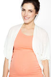 Beautiful Pregnant Woman. Over white background Stock Photography