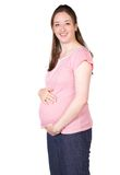 Beautiful pregnant woman in pink Stock Image