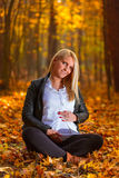 Beautiful pregnant woman portrait Stock Photography
