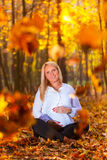 Beautiful pregnant woman portrait Stock Image