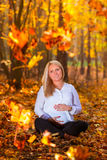 Beautiful pregnant woman portrait Royalty Free Stock Images