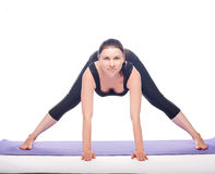Beautiful pregnant woman practicing yoga Royalty Free Stock Images