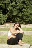 Beautiful pregnant woman relaxing Stock Photos