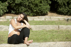 Beautiful pregnant woman relaxing Stock Photography