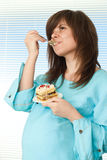 Beautiful pregnant woman standing Royalty Free Stock Image