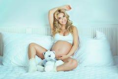 Beautiful pregnant woman. Royalty Free Stock Image