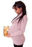 Beautiful pregnant young African American woman Stock Photo