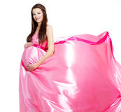 Beautiful pregnant young woman royalty free stock photo
