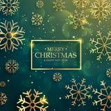 Beautiful premium golden snowflakes background for merry christm Stock Photos