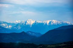 Beautiful Prenj mountain in Prozor city. Beautiful view to the Prenj mountain in the Prozor, Bosnian city Stock Images