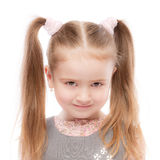 Beautiful preschool child with ponytail Royalty Free Stock Images