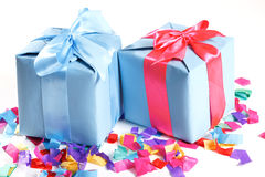 Beautiful present in the box Stock Images