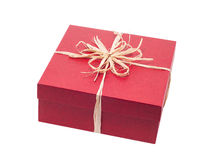 Beautiful present box with overwhelming bow isolated Stock Photography