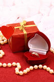 Beautiful present for St. Valentine Day Royalty Free Stock Photography