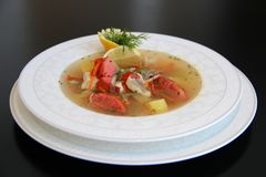 King Fish soup Royalty Free Stock Images
