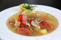 King Fish soup Stock Image