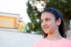Beautiful preteen girl with blue eyes Royalty Free Stock Image