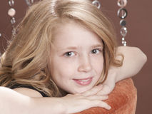 Beautiful preteen model Stock Image