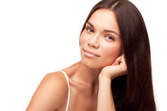 Beautiful pretty girl isolated Royalty Free Stock Photos