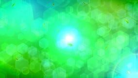 Green summer leaf background. Modern geometric illustration. CG leaf confetti animation. Beautiful pretty leaves. Natural animation. Leaf pattern on black stock illustration