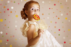 Beautiful pretty little girl Stock Photos