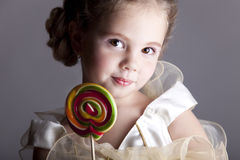 Beautiful pretty little girl Stock Photo