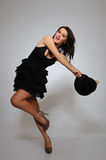 Beautiful pretty woman dancing Stock Photography