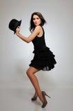 Beautiful pretty woman dancing Stock Photo
