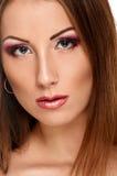 Beautiful pretty woman face Stock Photo