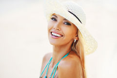 Beautiful pretty woman smiling Royalty Free Stock Photography