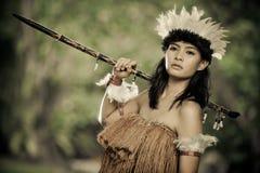 Beautiful primitive hunter. Photo of beautiful primitive hunter Royalty Free Stock Photos