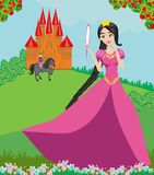 Beautiful prince and princess. Vector Illustration Stock Images