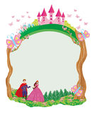 Beautiful prince and princess in the garden - frame Stock Photo