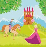 Beautiful prince and princess. Vector Illustration Royalty Free Stock Images