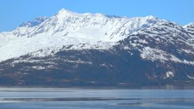 Prince William Sound Alaska by boat stock footage