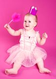 Beautiful princess baby Stock Images